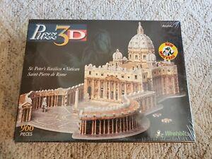 New Puzz 3D St Peters Basilica Vatican 966 pc Puzzle Sealed Wrebbit