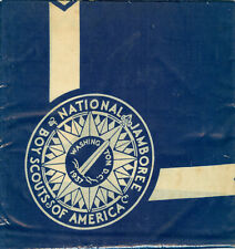 1937 Boy Scout National Jamboree FULL SQUARE Blue Neckerchief