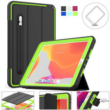 For Apple iPad 10.2 2019 7th Gen Shockproof Magnetic With Pen Holder Case Cover