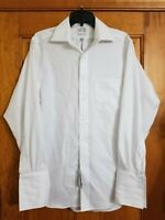 Eagle Men's Regular Fit French Cuffed Dress Shirt, White, Size 15.5 32/33
