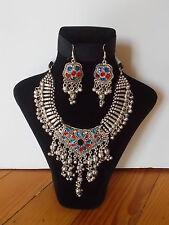 Parure, Collier Tribal et Boucles d'oreille ,  Artisanat Inde,  Kutch Gujarat 28
