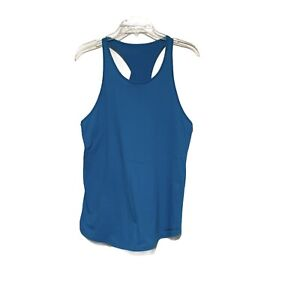 Women's Under Armour Charged Cotton Microthread Tank in Turquoise Sz M