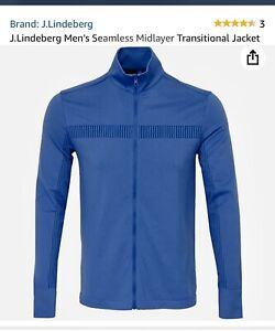 J Lindeberg Golf Midlayer Seamless Transitional Jacket Size Large. BNWT Blue