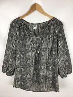 VERO MODA Shirt, 3/4 arm, mehrfarbig grau, Größe M