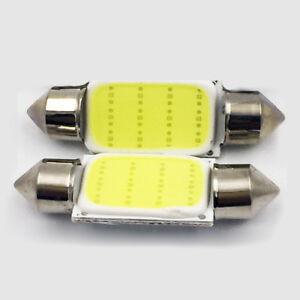 2Pcs COB 3W White Festoon Interior Dome LED Reading Light Car Xenon Lamp Bulbs
