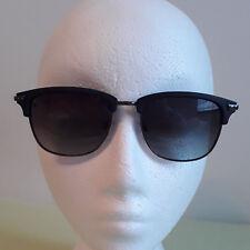 Gravity Unisex Sunglasses Black Metal Rimless