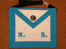 Franc-maçonnerie tablier de Maître Tubalcain REAA - Masonic apron