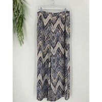 ASTR The Label Womens Pants Size Large L Wide Leg Palazzo Blue High Waist Woven