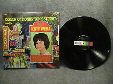 """33 RPM 12"""" Record Kitty Wells Queen Of Honky Tonk Street Decca Records DL 74929"""