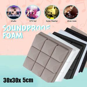5pcs Acoustic Foam Panels Soundproofing Insulation Studio Foam Tiles Wall Tiles