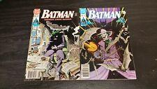 1990 DC COMICS LOT OF 2 BATMAN #450 #451 VF- JOKER APARO WOLFMAN NEWSSTAND