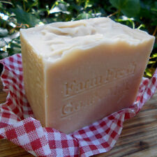Natural Limited Edition  Aged Handmade Soap . Farm Fresh Goat's Milk Large 12 oz