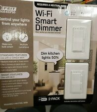 New- Sealed Feit Electric Wi-Fi Smart Dimmer 3-Way Single Pole Switch -Alexa