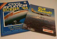 Civil Aviation 1980's Paperback Publications Bundle Civil Aircraft