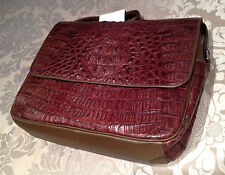 Large Visconti Men's Genuine Crocodile Leather Cross Body Messenger Shoulder Bag