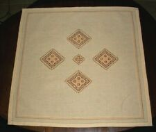 NORWEGIAN HARDANGER & HAND EMBROIDERED 32 INCH BY 28 INCH TABLECLOTH