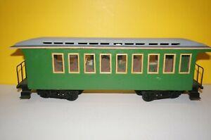 RF2] Gauge G Self-Made Passenger Car from Wood Green with Roof Oberlichter Good