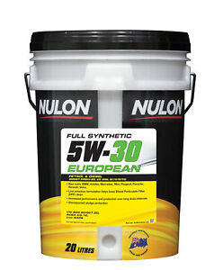 Nulon Full Synthetic Euro Engine Oil 5W-30 20L EURO5W30-20 fits Ford Mustang ...