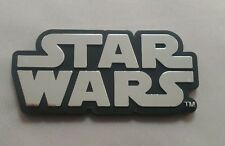 STAR WARS CHROME LOGO THICK PLASTIC EMBLEM Car Auto Truck Ship Lucas Disney Jedi