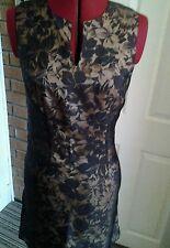 Mesdames Kookai Noir Robe à fleurs taille 38 NEUF