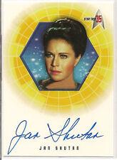 Star Trek 35th Anniversary TOS Autograph Card A29 Jan Shutan Lt. Mira Romaine