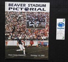 1985 PENN STATE LIONS vs ALABAMA FOOTBALL PROGRAM NICE SHANE CONLAN + TICKET