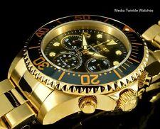New Invicta 47mm GRAND DIVER Quartz Chronograph Gold Tone Black MOP Dial Watch