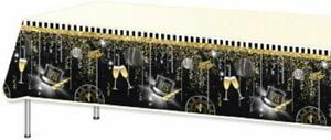 """Happy New Year Plastic Table Cover 54X108"""""""
