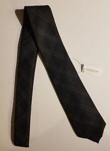 Banana Republic Men Skinny Slim 100% Wool Neck Tie Modern Black Christmas Gift