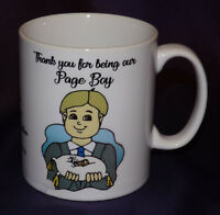 PERSONALISED PAGE BOY / RING BEARER MUG WEDDING THANK YOU FAVOUR GIFT FOR BOY