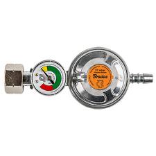 Gasdruckregler 37 mbar - 1,50 kg/h mit Manometer für Heimgebrauch (IGT)