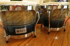 LP Performer Series Bongos Blue Fade with Chrome Hardware