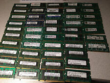 Lot of 47 Assorted 1GB DDR2 SODIMM Laptop RAM Memory Modules