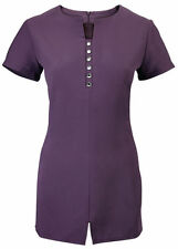 Polyester Button Down Collar Tops & Shirts for Women