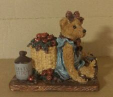 Boyd Bearstone Resin Bears Bailey In The Orchard Figurine #2006 18E L@K.
