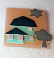 Vintage  House Pin by Lucinda/ Handcrafted Designer  3-D