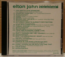 Elton John Excerpts From To Be Continued... Canada Promo CD MCAD-9070