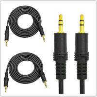 2X 3.5mm Jack Male to Male Plug Aux Cable Audio Lead For Headphone/MP3/iPod/Car