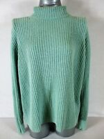 VENEZIA womens Sz 18/20 L/S green RIBBED turtle neck HEAVYWEIGHT sweater (A5)P