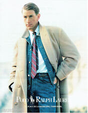 PUBLICITE ADVERTISING 115  1988  les manteaux homme POLO RALPH LAUREN 2