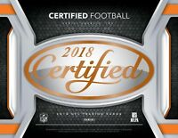 2018 Panini Certified Football Base COMPLETE YOUR SET You Pick #1-100 STARS!