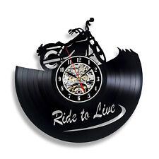 Motorcycle Wall Clock New Cool Design Motorbike Sign Round Chopper Garage Club
