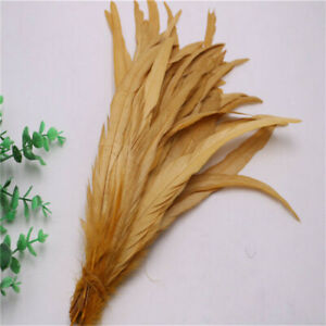 10 pcs beautiful natural rooster tail feathers 12-14 inches/30-35cm 15 colors