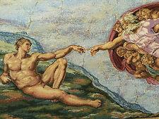 TAPIZ DE ITALIA Tapiz Michelangelo - CREAZIONE Corbata di Adamo x 50 70 cm NUEVO