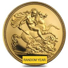 British Gold Half Sovereign Coin BU/Proof (Random Year, Elizabeth II)
