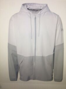 Under Armour Men's Squad 2.0 Jacket Color: White / Lt Gray Size: Large #1343180
