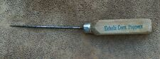 Vintage Echols Ice Pick Slaw Cutters Corn Poppers Wooden Handle Advertising