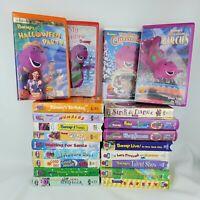 Vintage 90's Barney & Friends VHS Lot 20 Children's Educational Entertainment