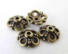 TierraCast Antiqued Brass Ox Bead Cap Clover Flower Bronze 9mm