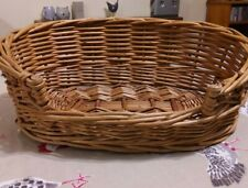 Wicker Cat/Small Dog Basket - Used